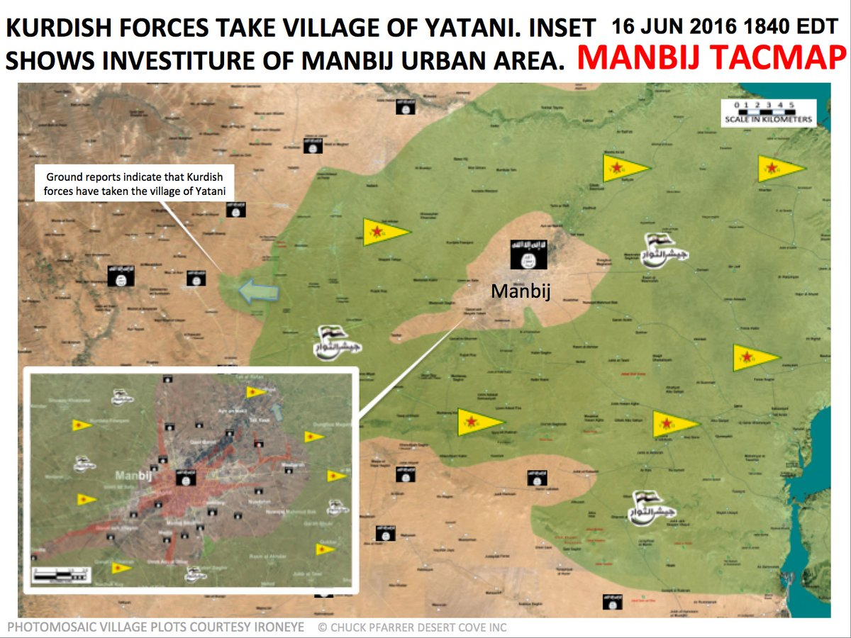Syrian Democratic Forces Seize Village of Yatani near Syria's Manbij