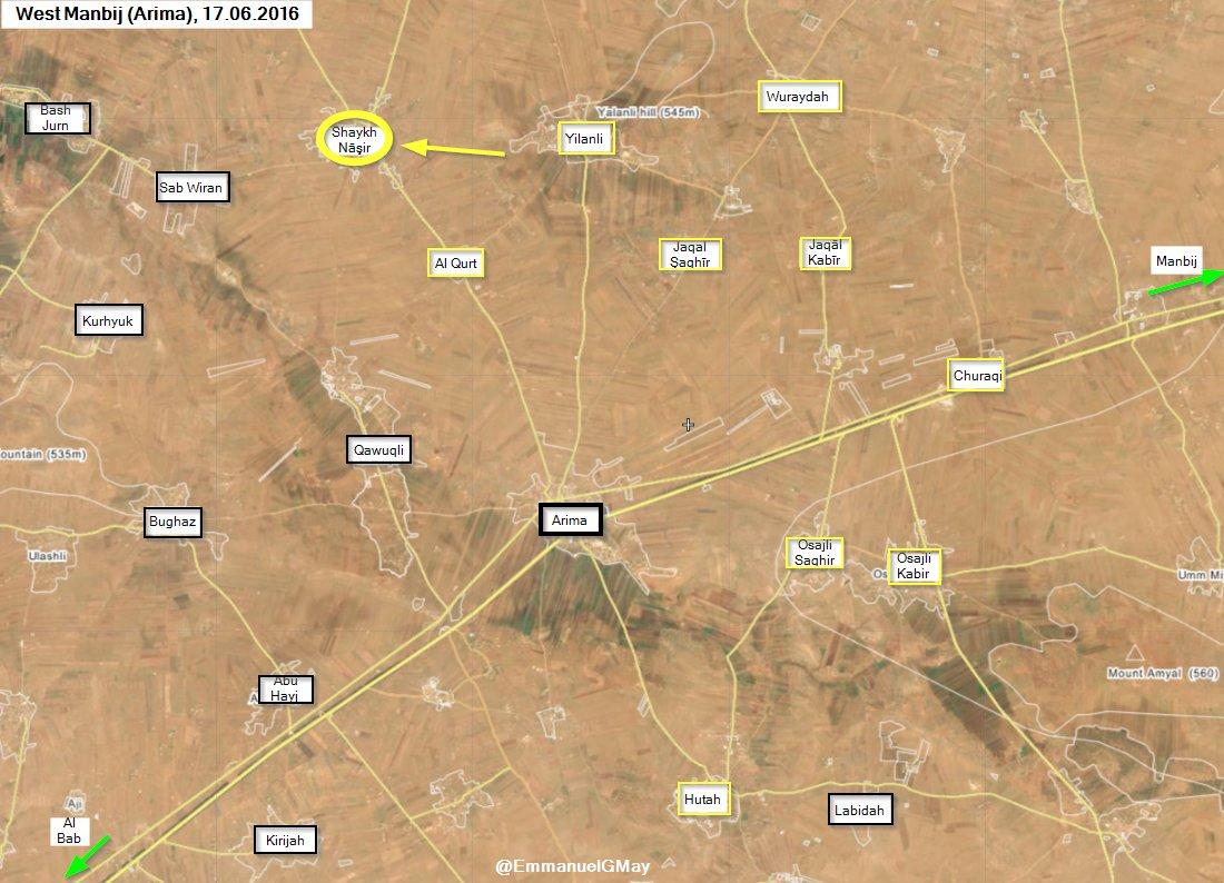 Kurds Seize Vilalge of Shaykh Nasir, West of Manbij
