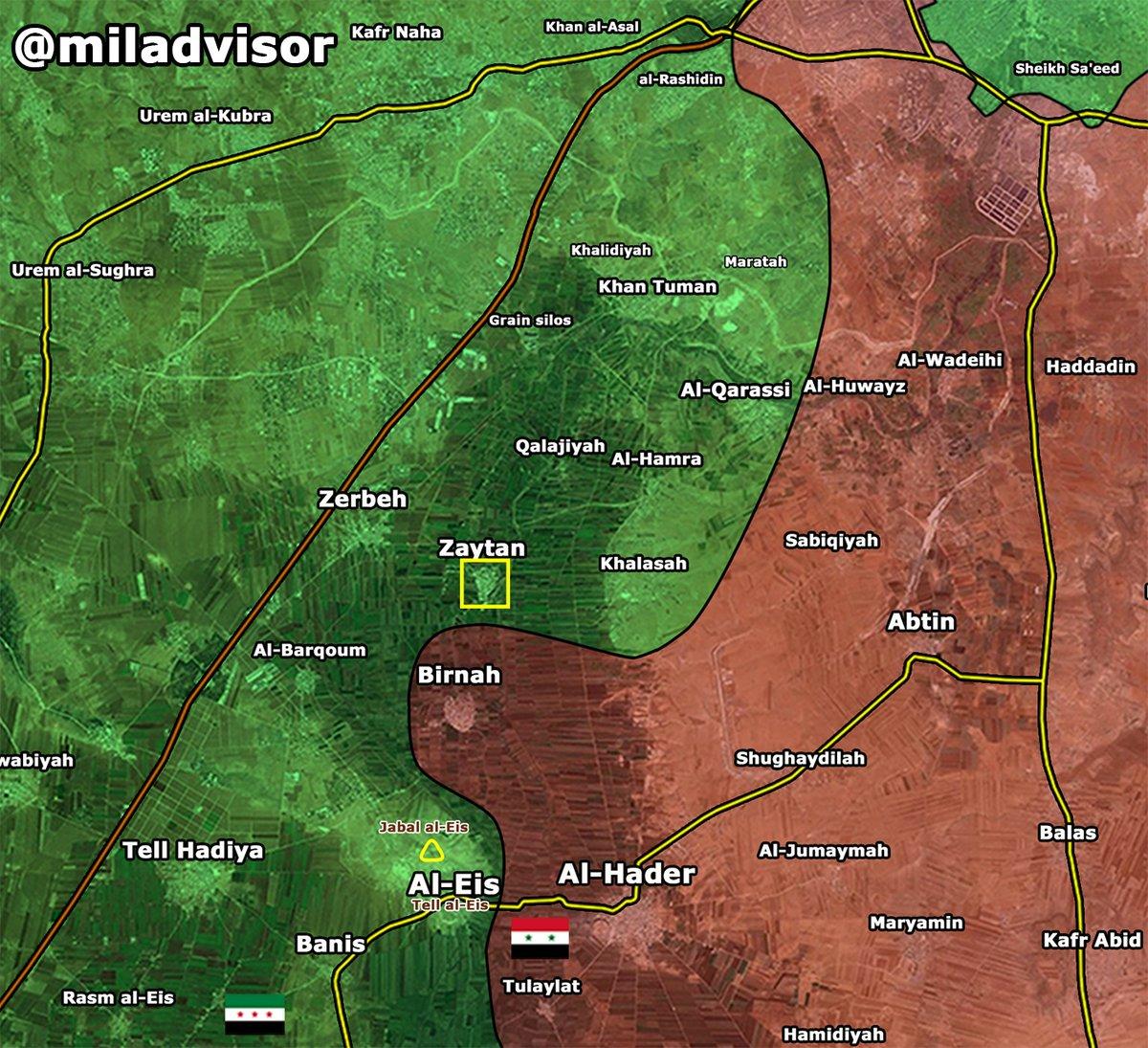 Militants Capture Village of Zaytan in Southern Aleppo, Syria