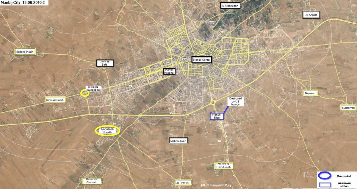 Kurdish Forces Clash with ISIS for Manbij Hospital