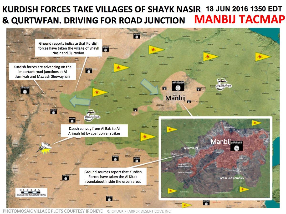Kurdish Forces Attempt to Enter Syria's Manbij