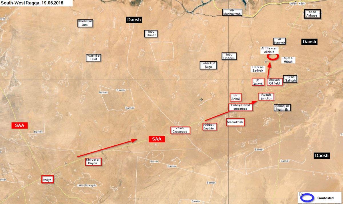 Syrian Army Takes Al Thawrah Oil Field in Raqqa Province
