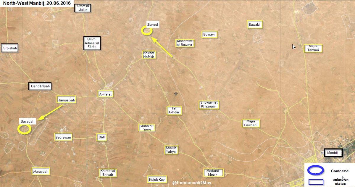 Syrian Democratic Forces Advance West of Manbij