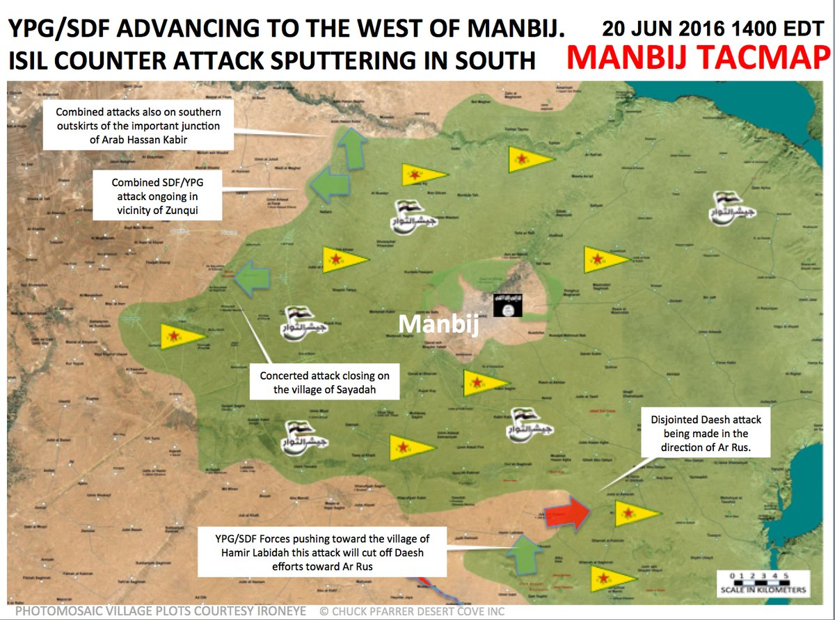 Syrian Democratic Forces Advance West of Manbij
