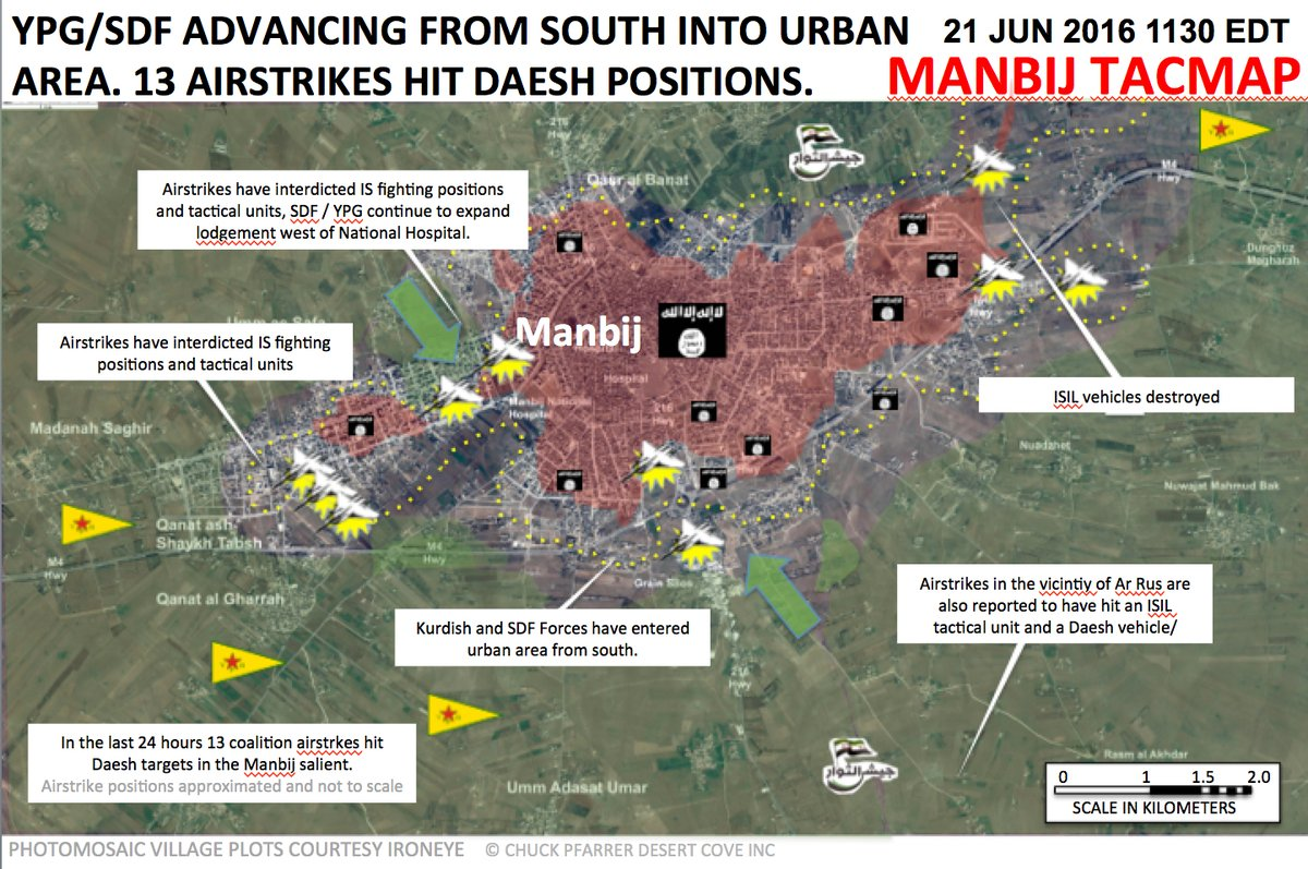 Syrian Democratic Forces Make Another attempt to Enter Urban Areas of Manbij