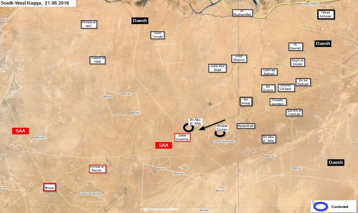 ISIS Advancing along Sukhanah-Tabaqa Road