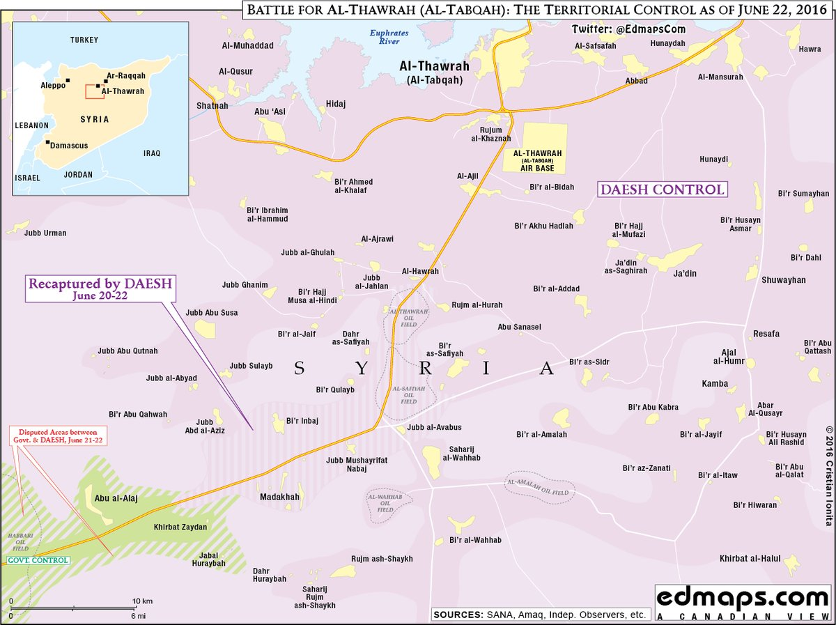ISIS Advancing along Sukhanah-Tabaqa Road