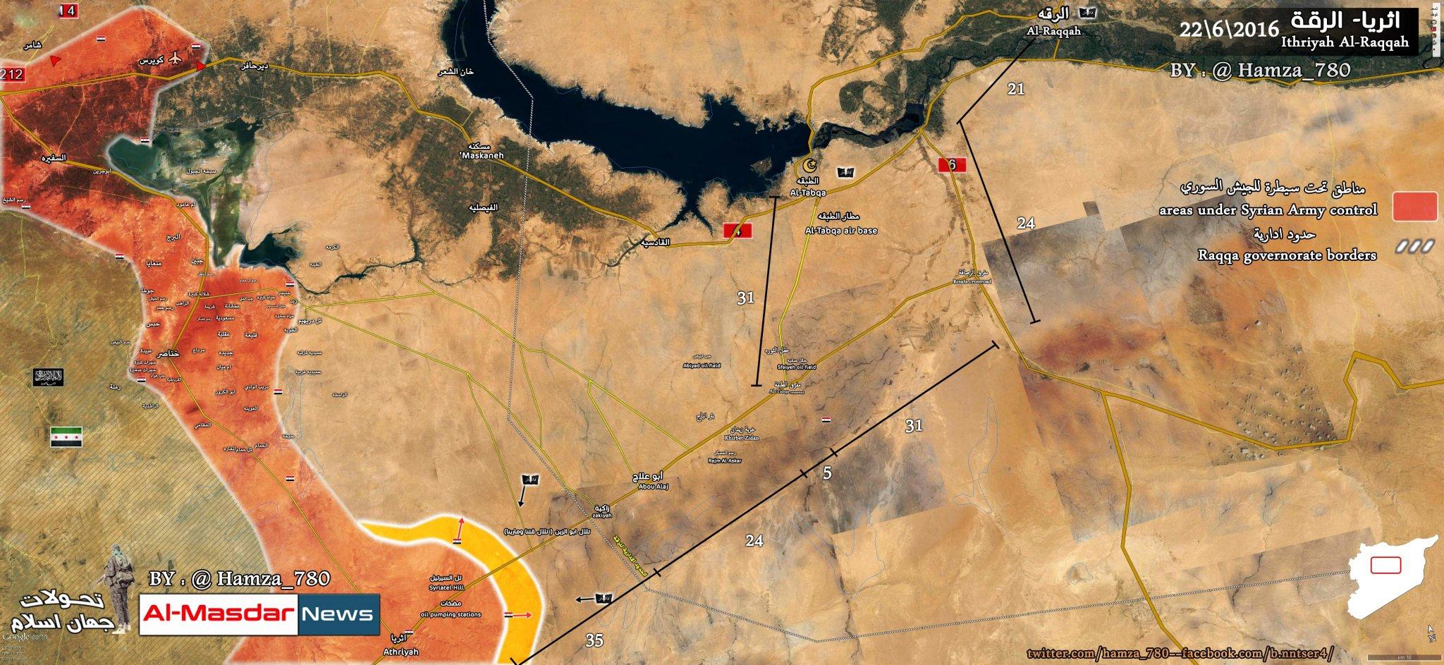 ISIS Regaines al-Zakia Junction & al-Zayn Hills in Southeastern Raqqa amid Lack of Russian Air Support