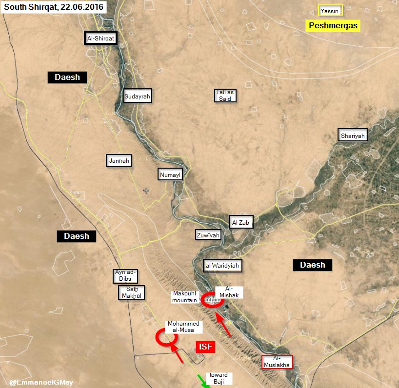 Iraqi Forces Liberate Al-Mishak and Mohammed al-Musa from ISIS