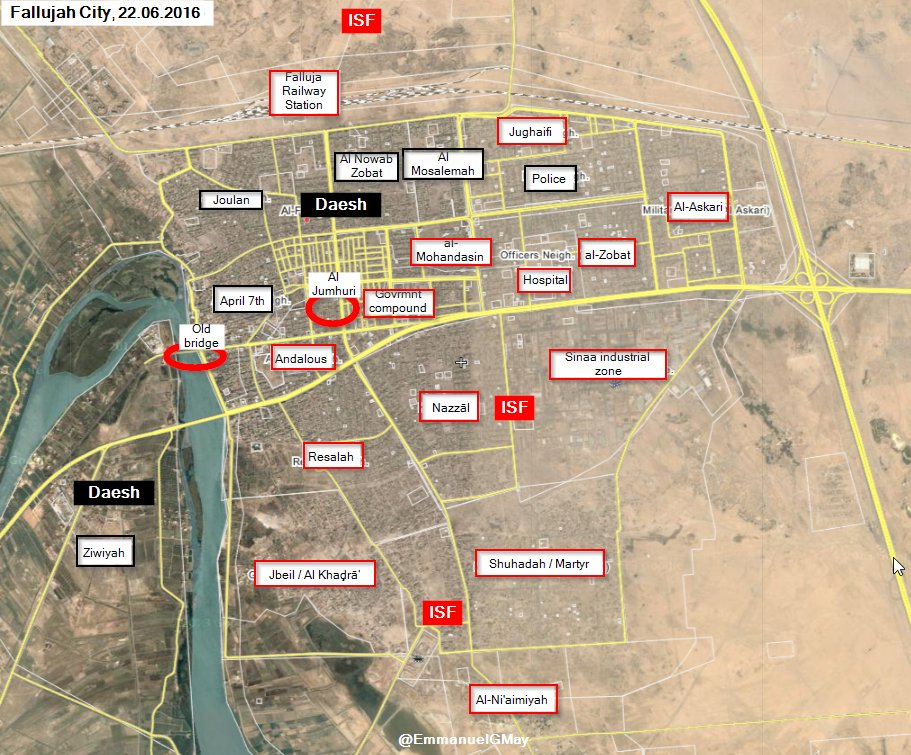 iraqi forces take al jumhuri neighborhood of fallujah video