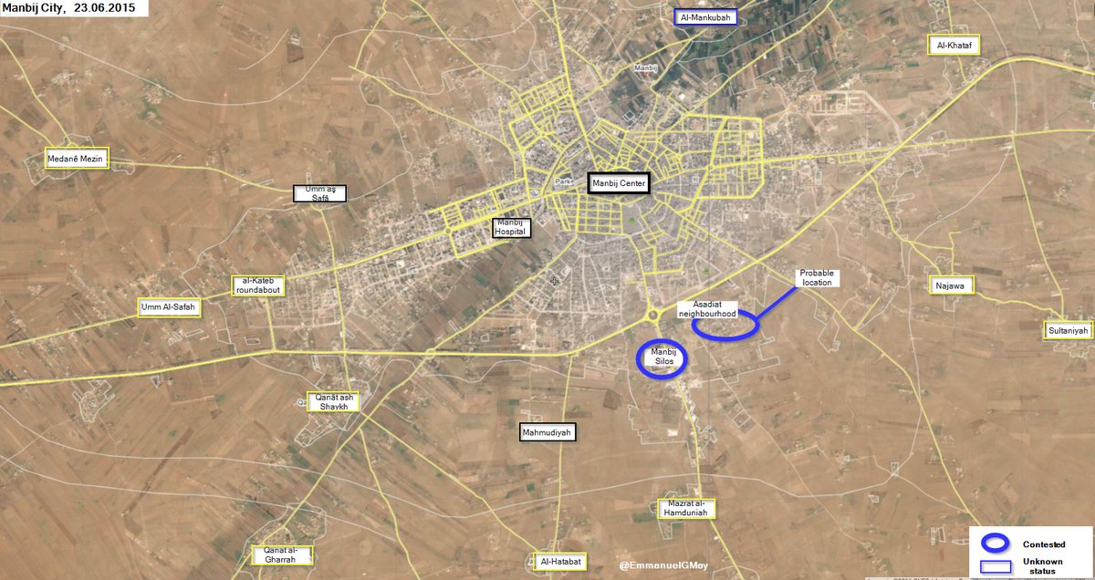 Syrian Democratic Forces Entered Manbij City