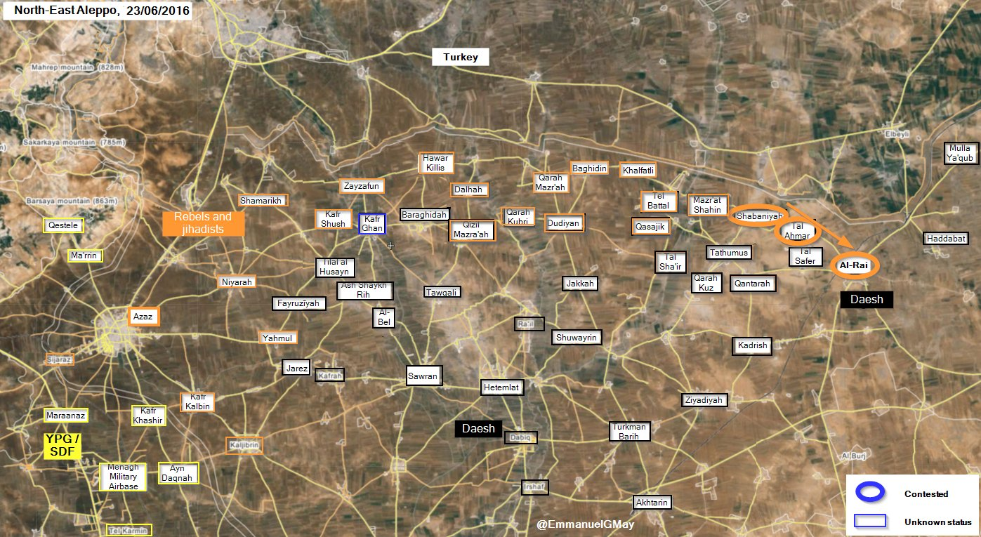 'Moderate' Jihadists Seize 3 Villages from ISIS in Northeastern Aleppo