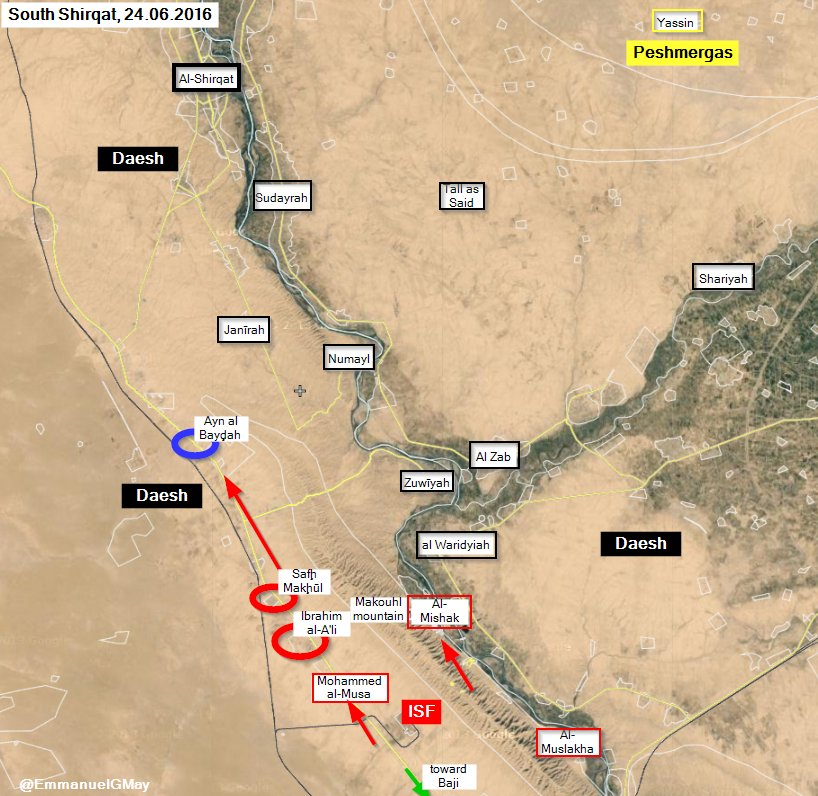 Iraqi Forces Liberate more Areas from ISIS in Salah ad Din Province