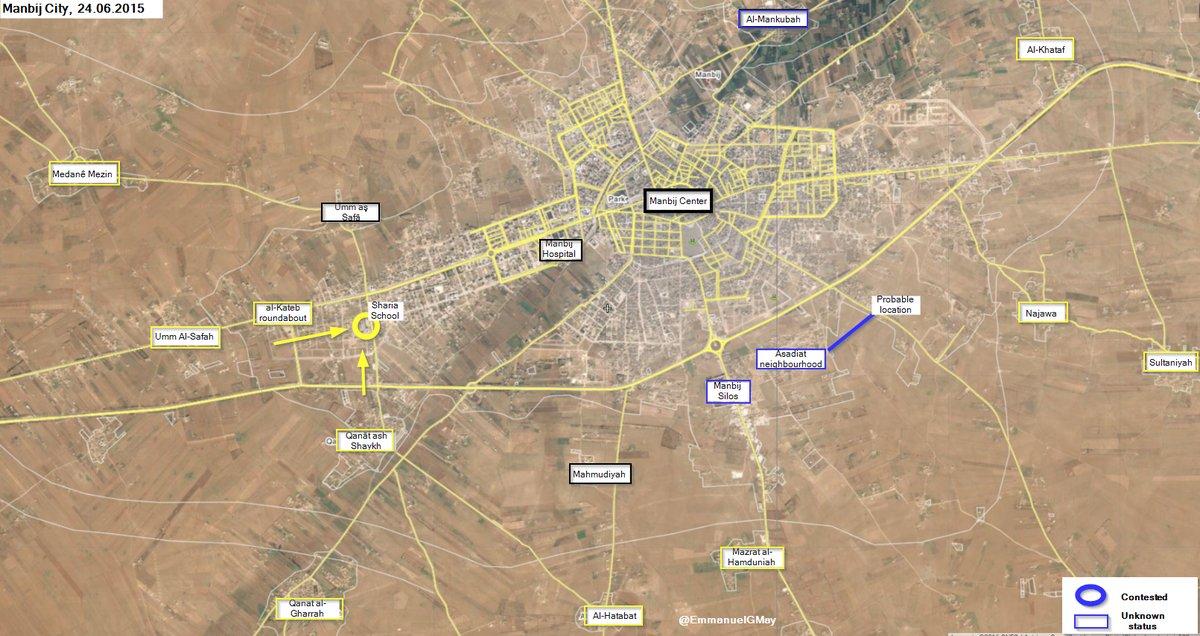 SDF Advances West of Manbij