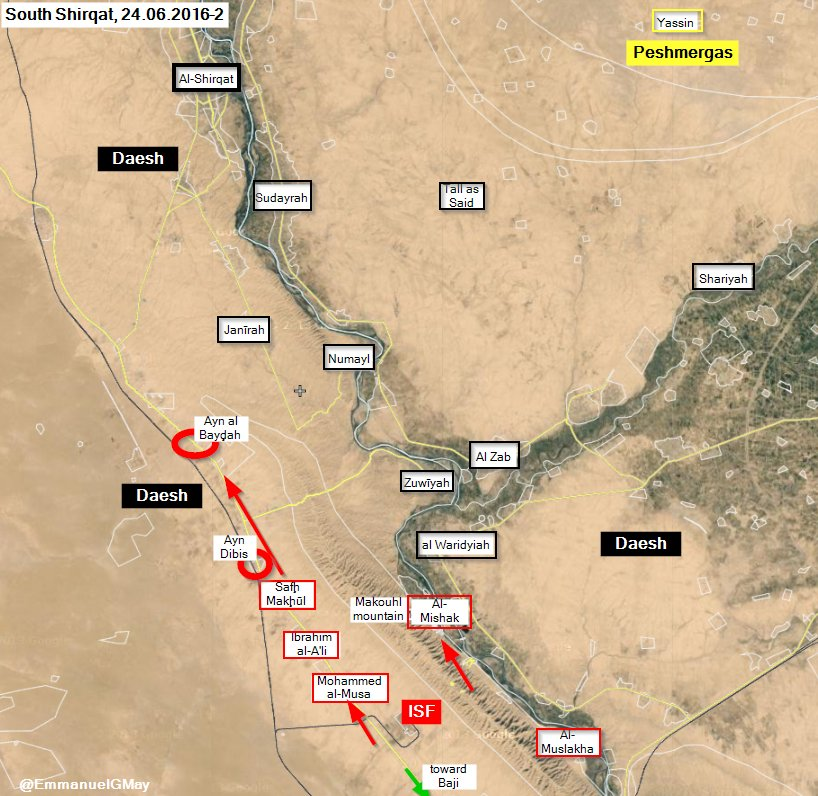 Iraqi Forces Preparing to Liberate Last District of Fallujah, Advance South of Shirqat