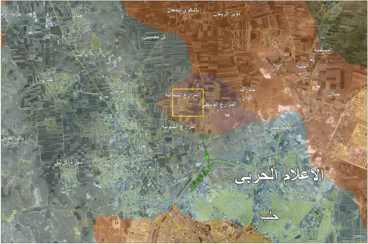 Syrian Army in 1,5 km from the Militants' Last Supply Line to Aleppo City