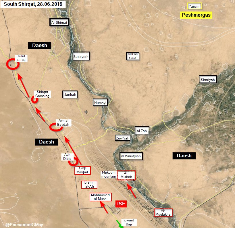 Iraqi Forces Seizing More Villages during Shirqat Operation