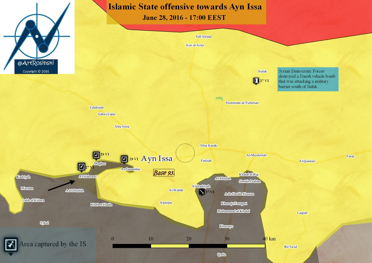 Heavy Clashes Ongoing in Manbij, ISIS Advancing on Ayn Issa
