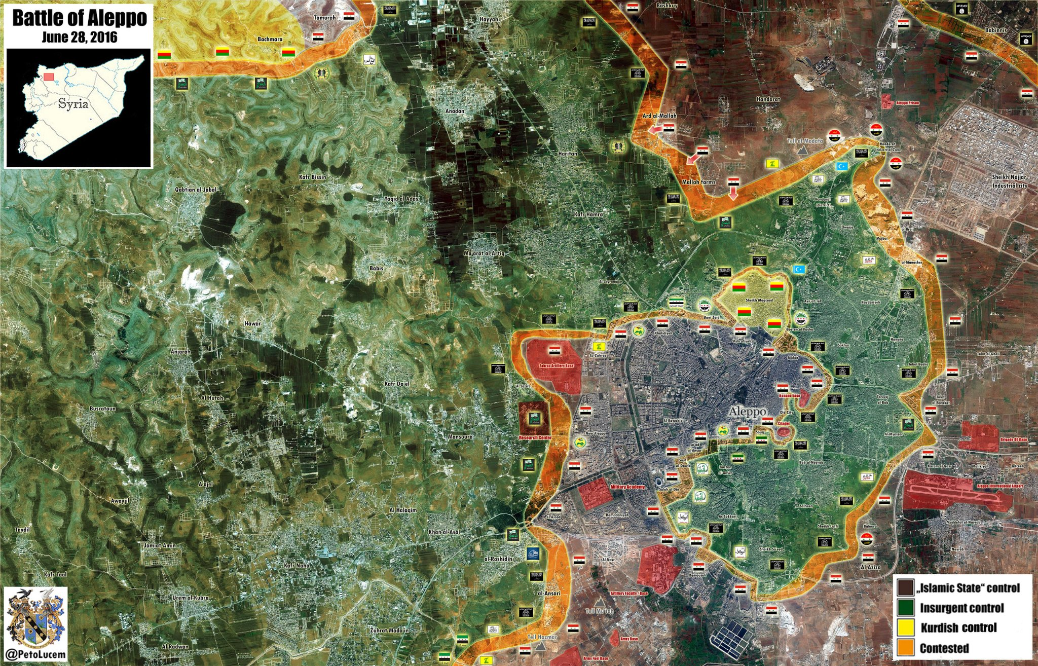Military Situation in Aleppo City, Syria - Map Update