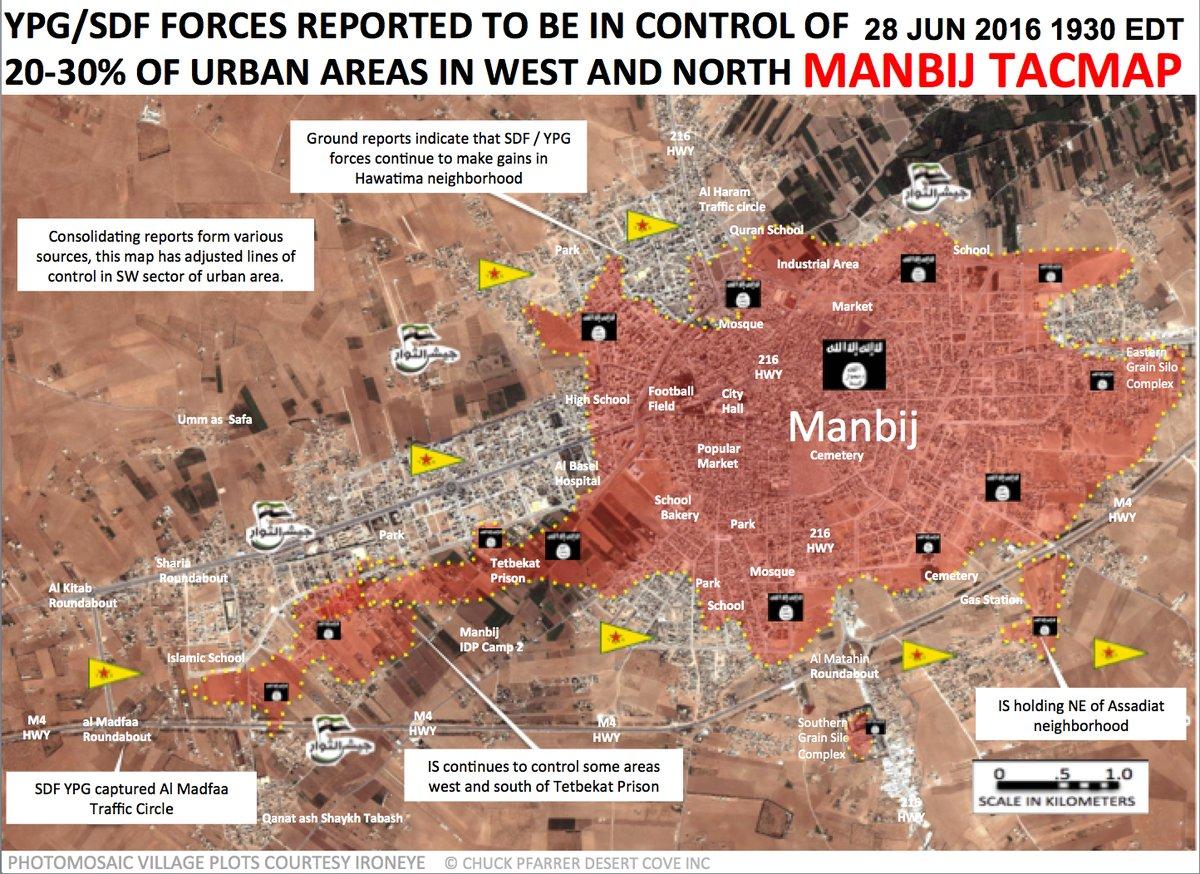 Kurdish Forces Take Madfaa Traffic Circle, Advance in Urban Areas of Manbij
