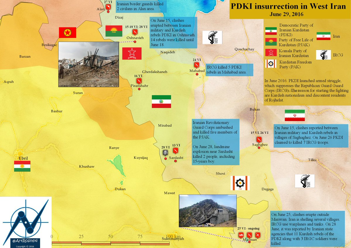 Kurdish Insurgention in Western Iran