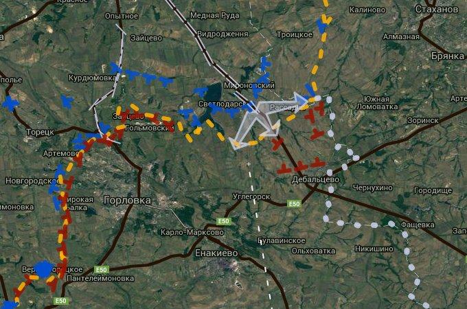Ukrainian Military Advancing in Donbass Region
