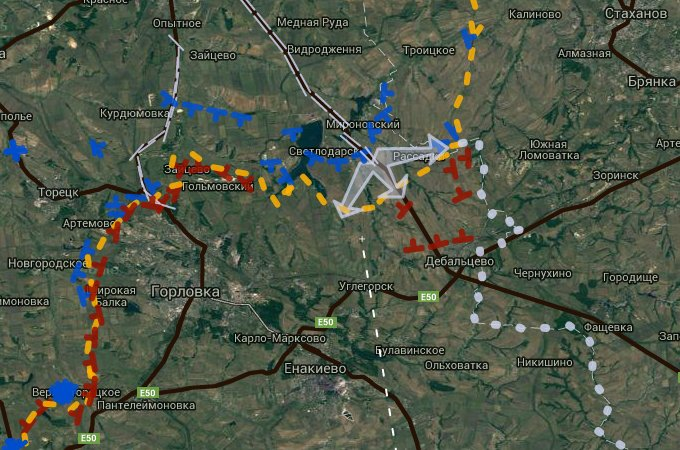 Ukrainian Military Advancing in Donbass Region