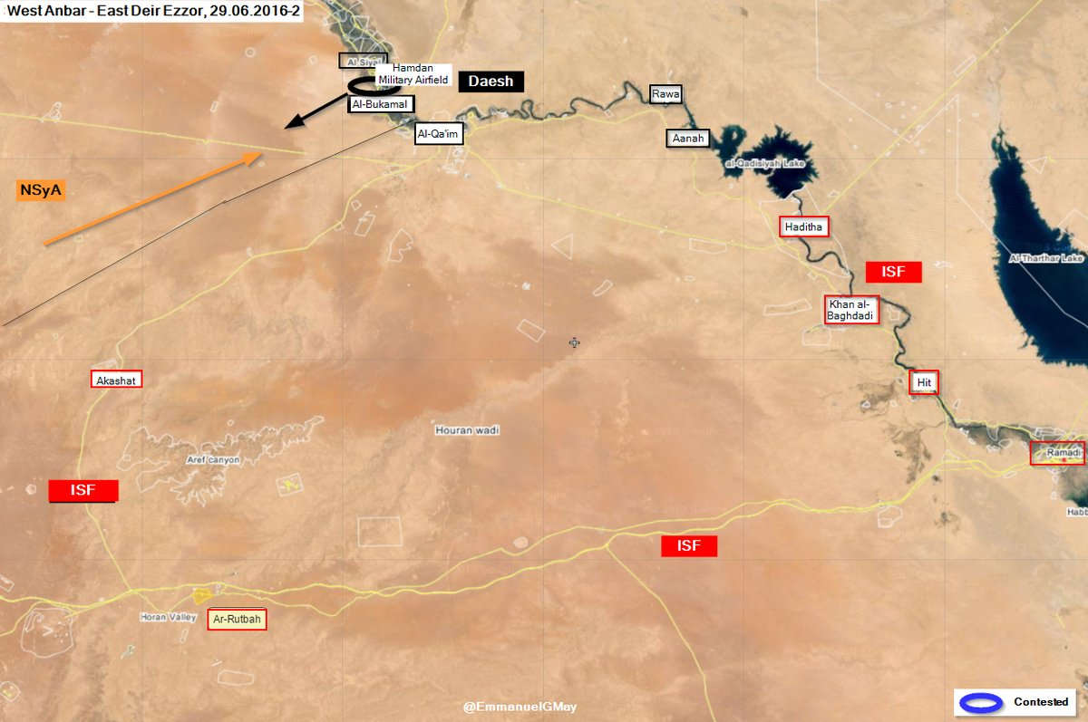 New Syrian Army Offensive on Al-Bukamal Ended as Failure