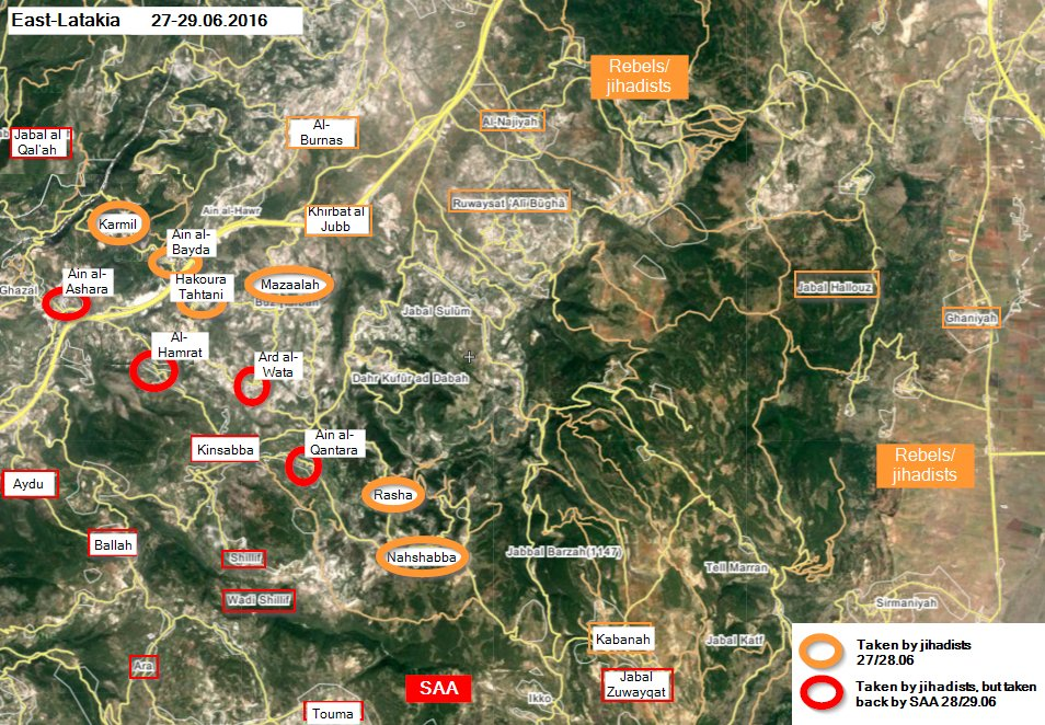 Syrian Army Repels Militants Attempts to Advance in Northern Latakia