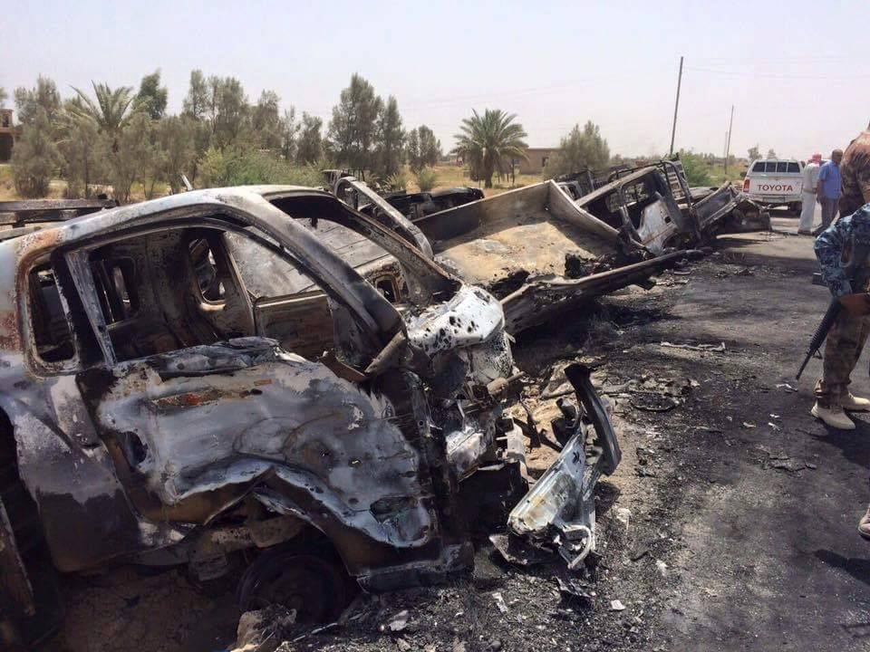 Iraqi Forces Destroyed 100+ ISIS Vehicles Fleeing Fallujah to Syria (Videos, Photos)