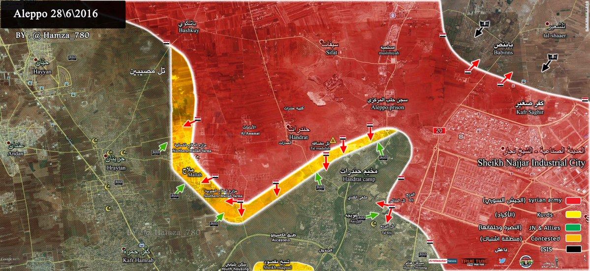 Syrian Army Restores Control of Strategic Mallah Farms near Aleppo City