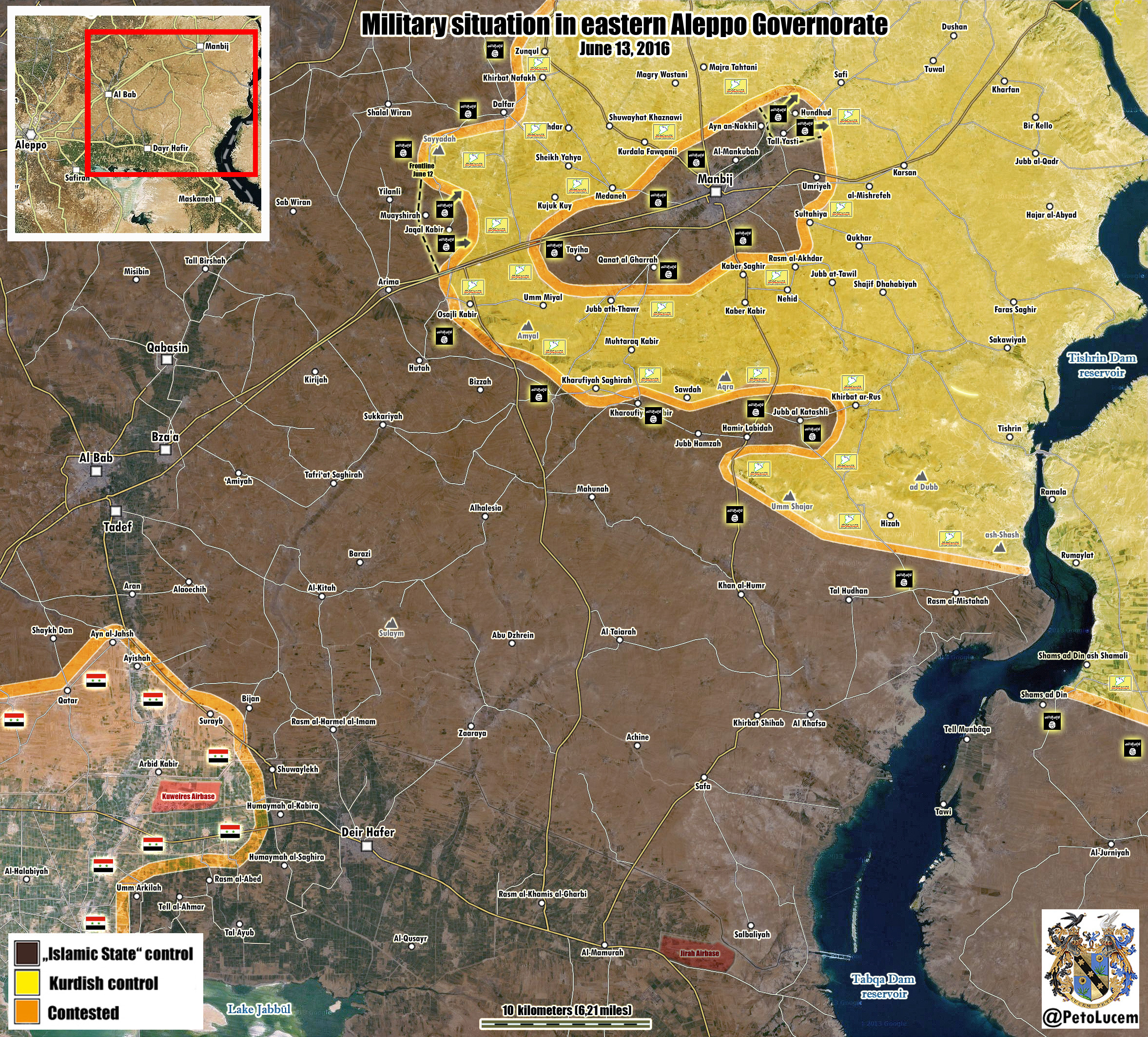 ISIS Counter-Attacks to Lift Siege from Manbij, Syria