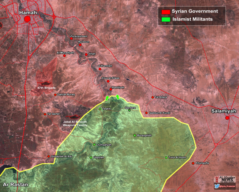Islamists launch night offensive in east Hama