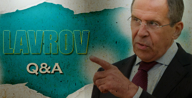 Lavrov: In Kiev, in the Headquarters of the Agency for Security an Entire Foor Is Occupied by Agents of the FBI, CIA and NSA