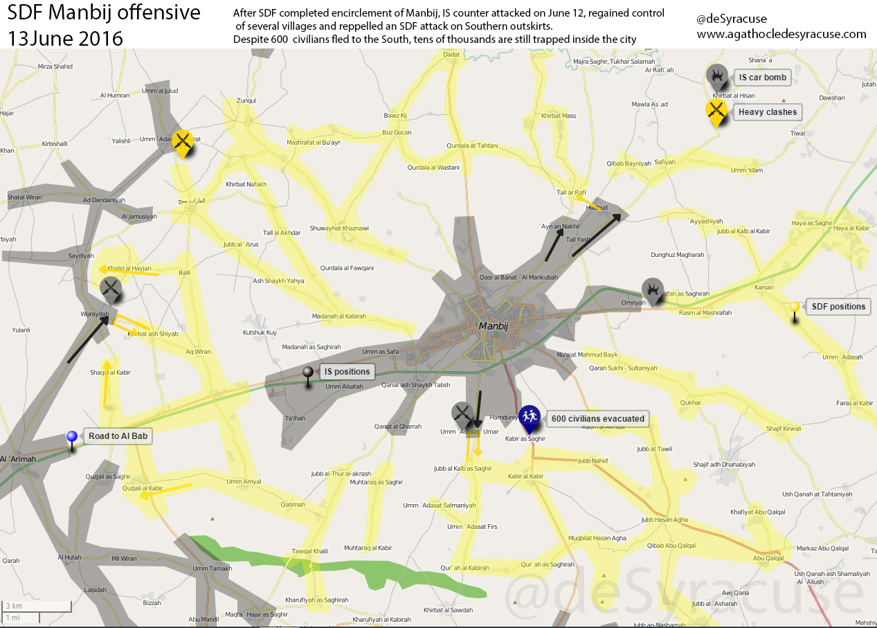 ISIS Counter-attacks in Siyra's Manbij