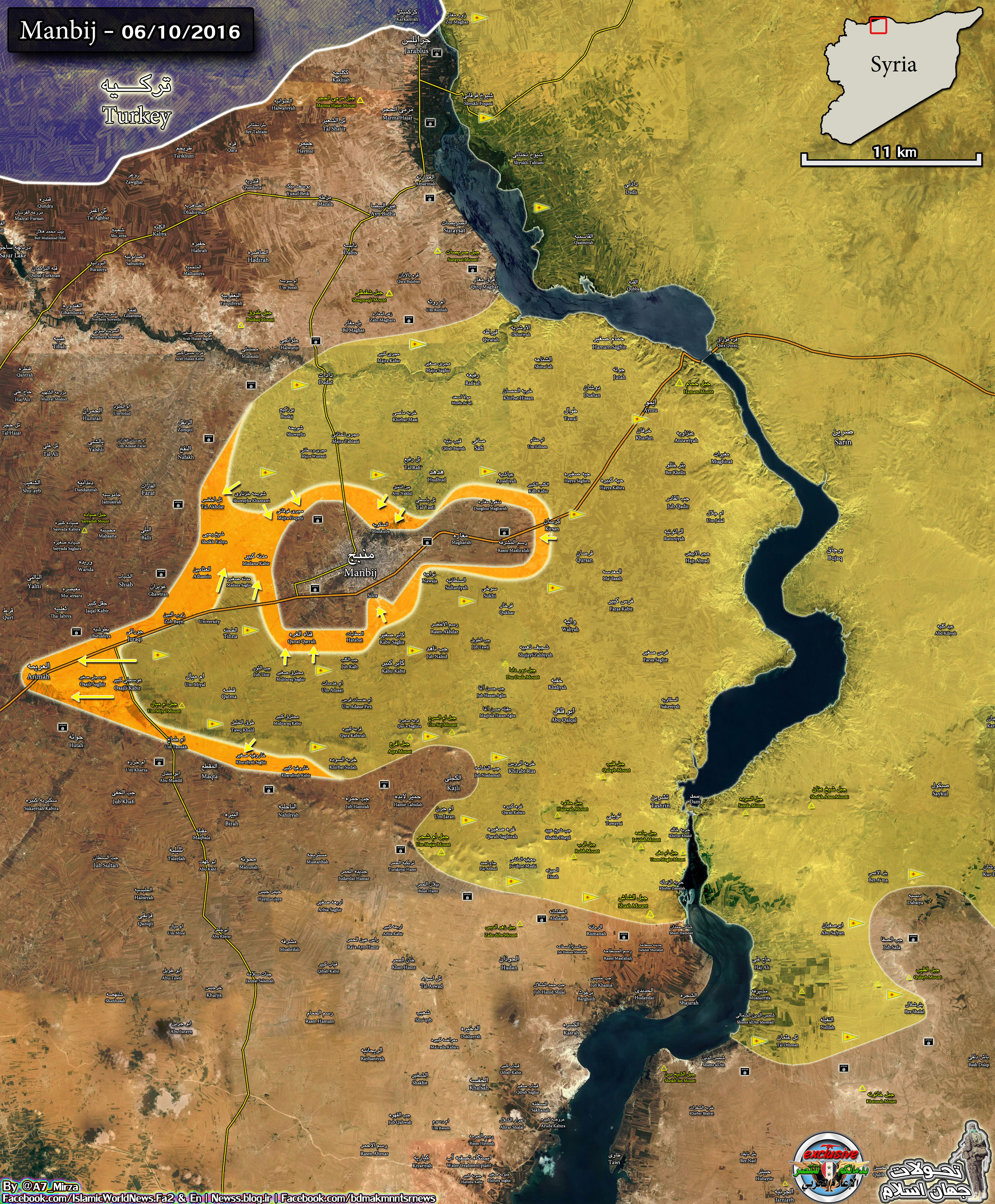 Kurds Advance Further in Northern Syria after Encircling Manbij