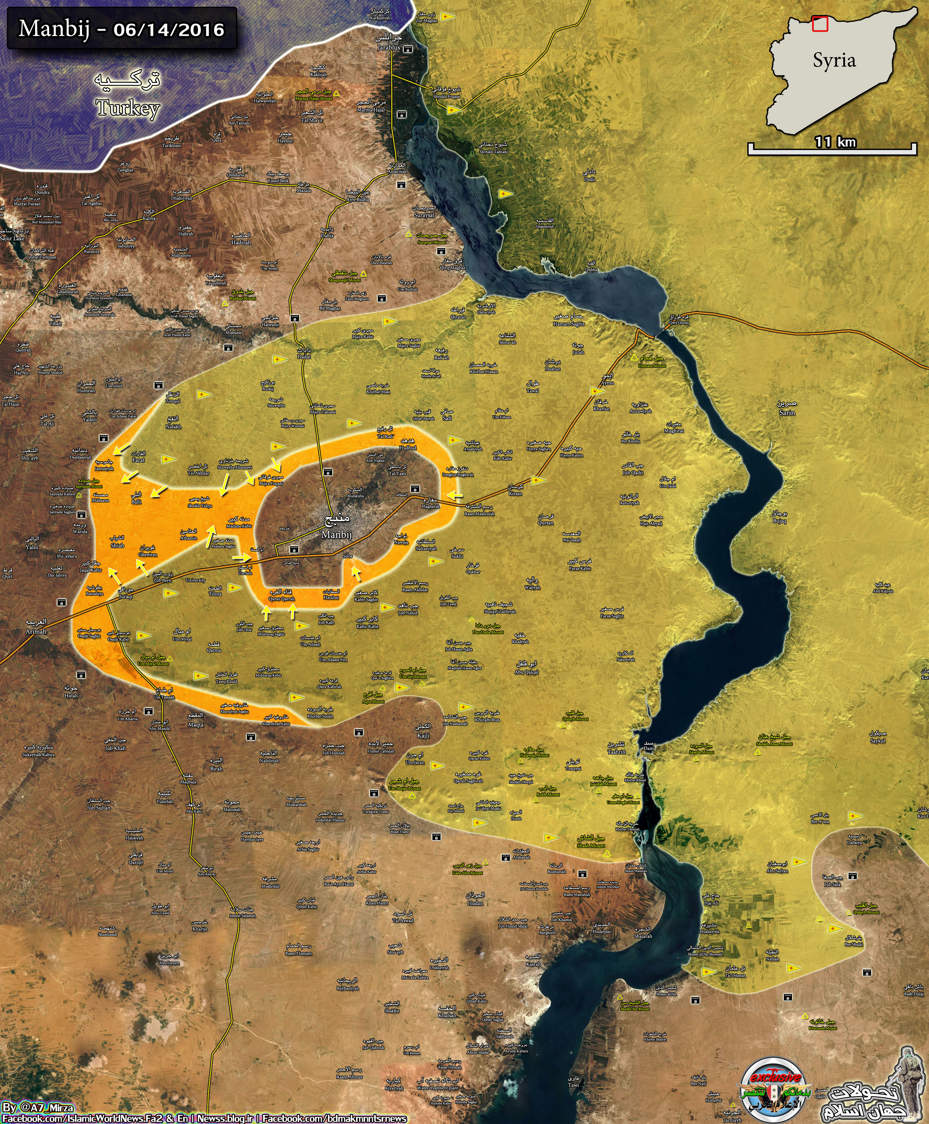 Military Situation near Syria's Manbij on June 14