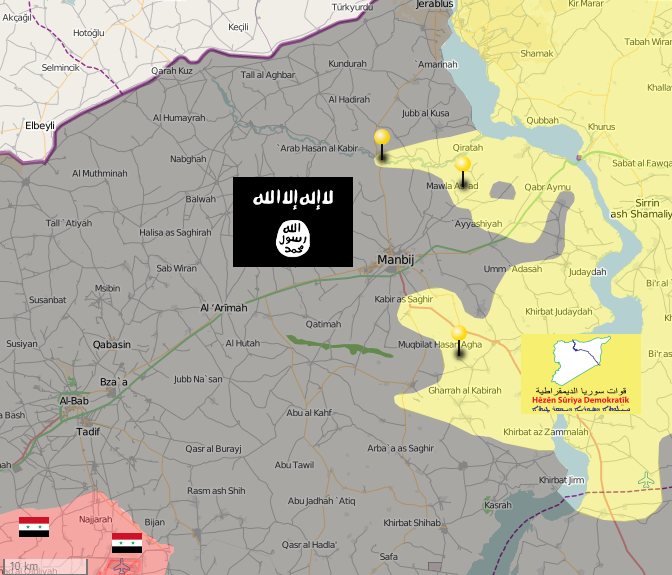 ISIS on high alert as the Syrian Democratic Forces encircle Manbij city