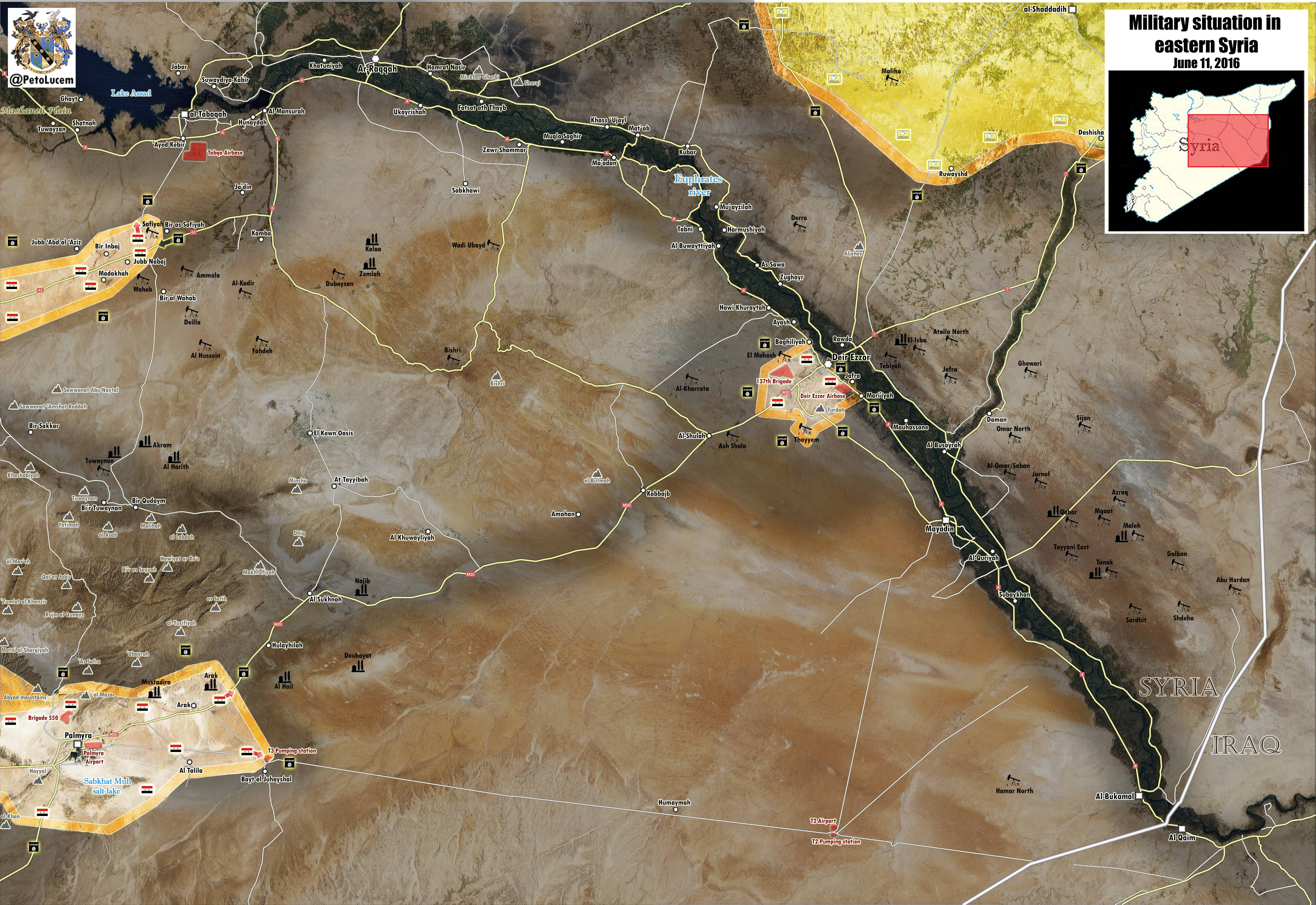 Military Situation in Eastern Syria on June 11