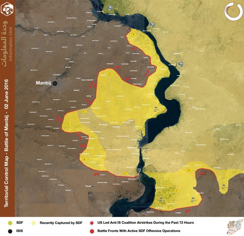 Syrian Democratic Forces Seize more than 20 locations in the last 72 hours