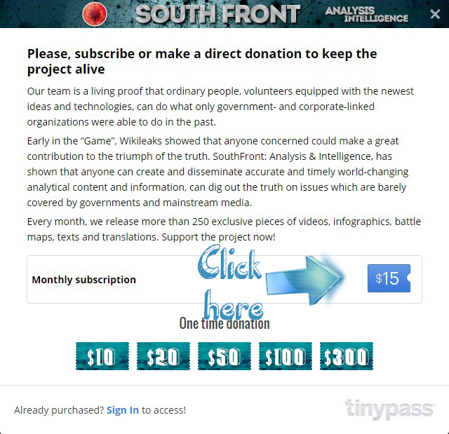 South Front Needs Your Help!