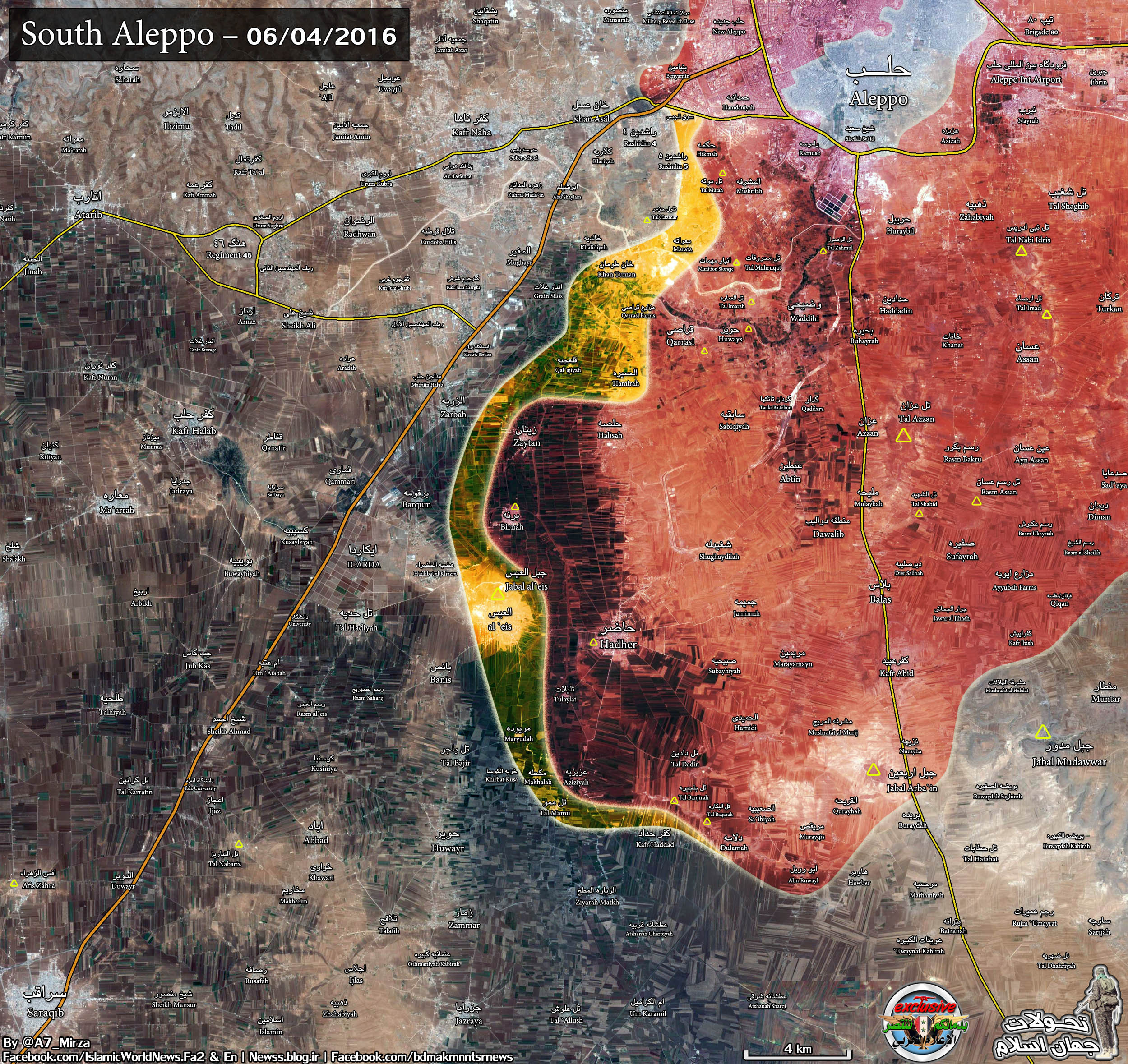 Military SItuation in South Aleppo, Syria on June 4