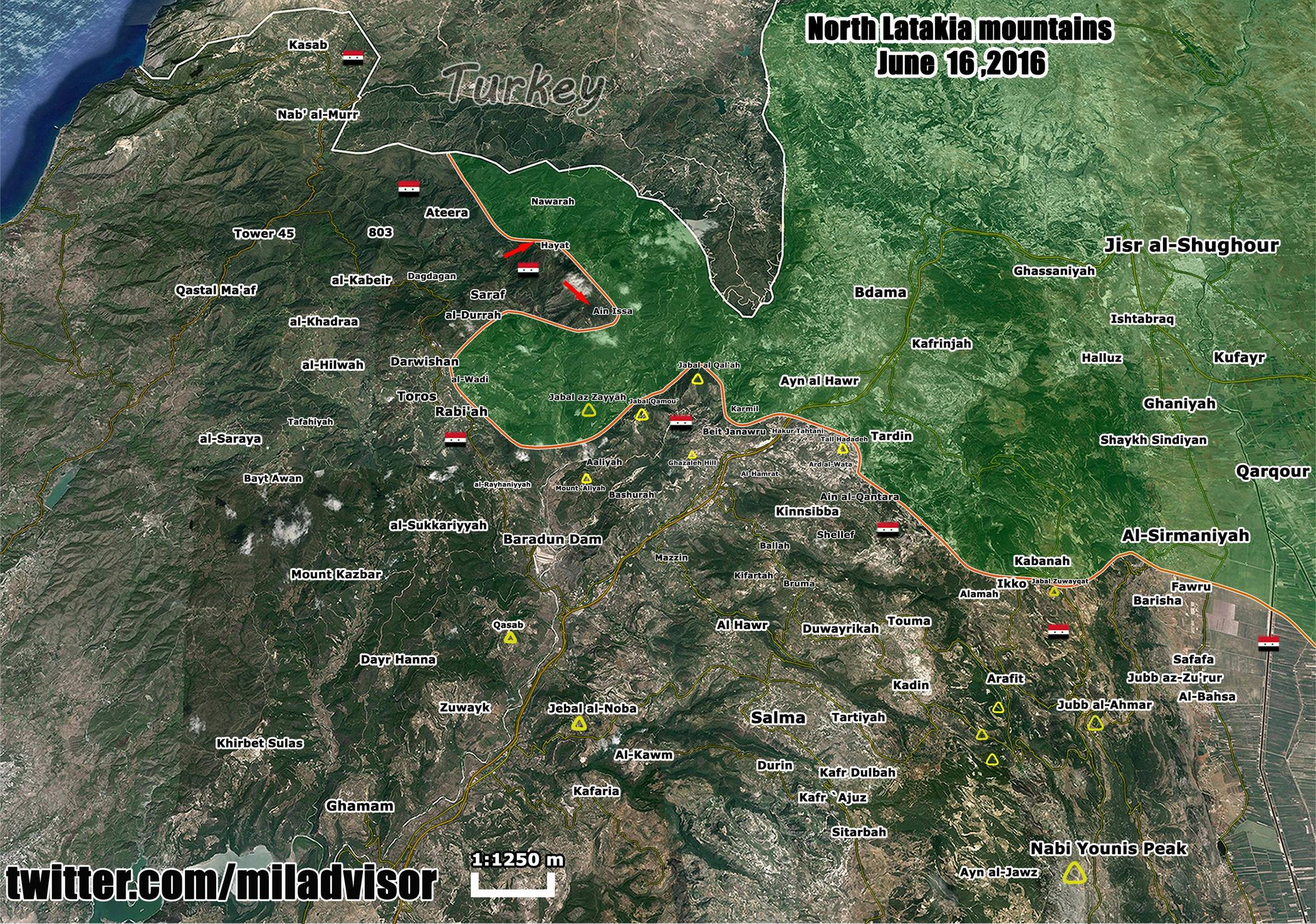 Military Situation in Northern Latakia, Syria on June 16