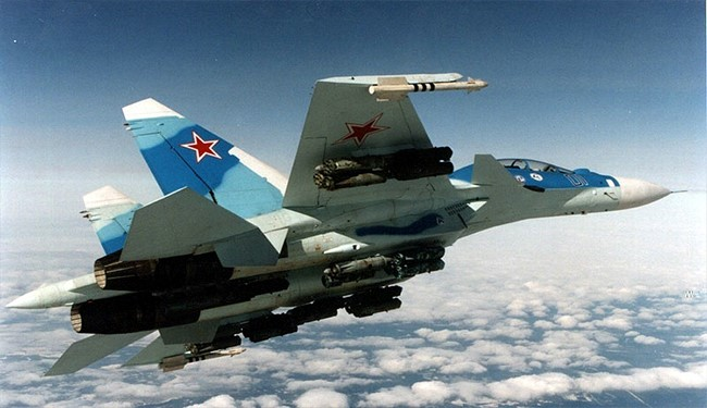 Syrian, Russian Warplanes Pulverize Terrorists near Idlib and Damascus