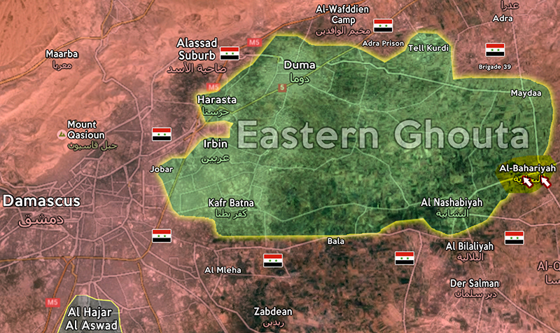Syrian Army steadily advances in Bahariyah amid intensifying battles
