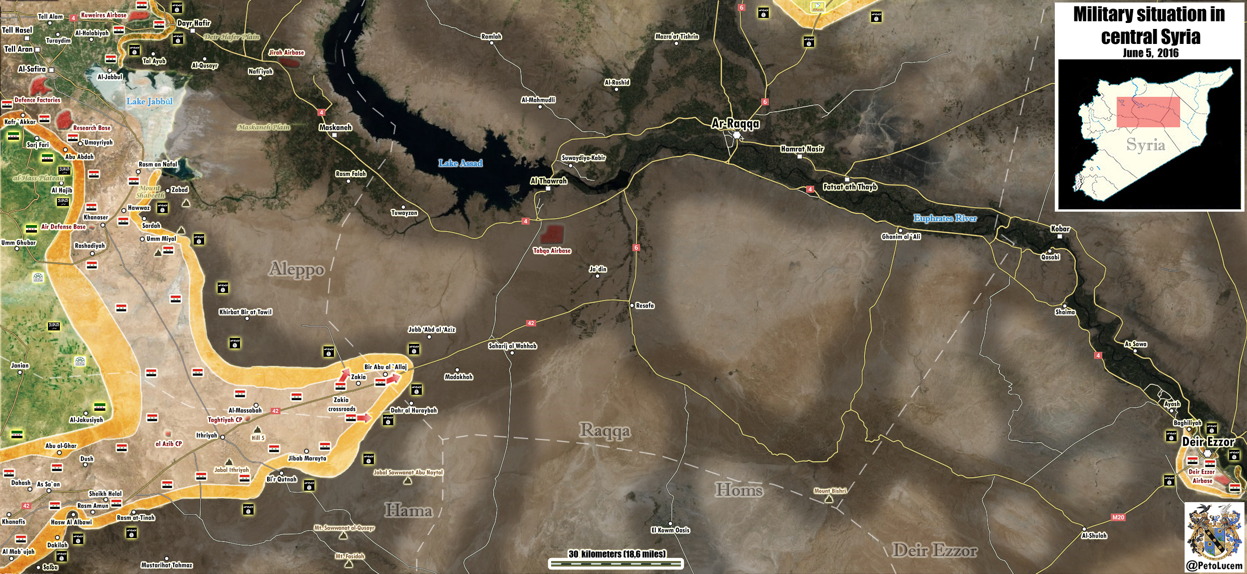 Syria's Army Advances on Raqqa City, Military Situation in the Province