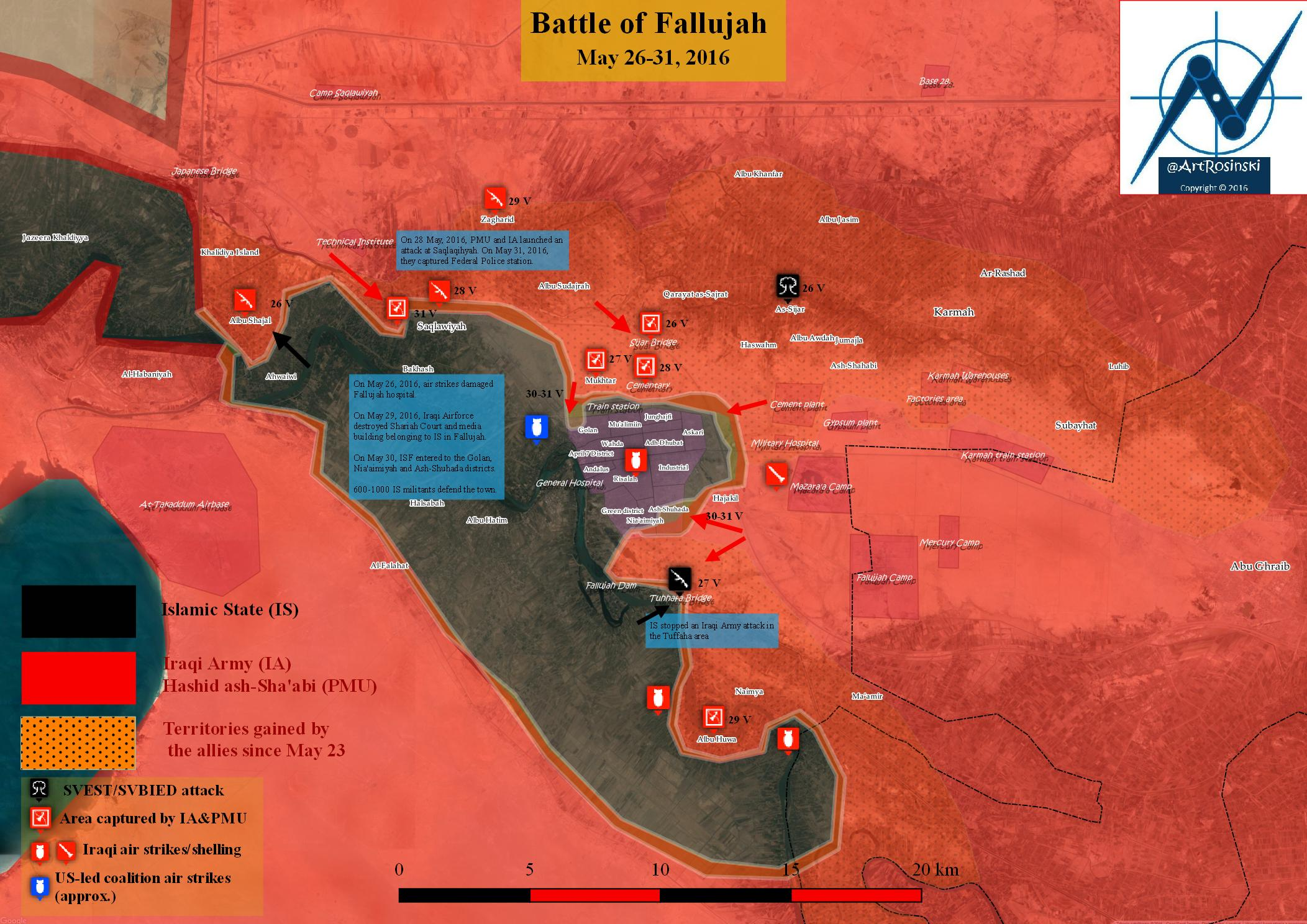 Military Situation in the Area of Fallujah, Iraq, May 26-31