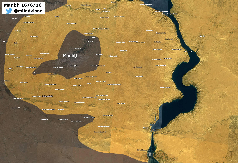 Syrian Democratic Forces Seize Village of Yatani near Syria's Manbij