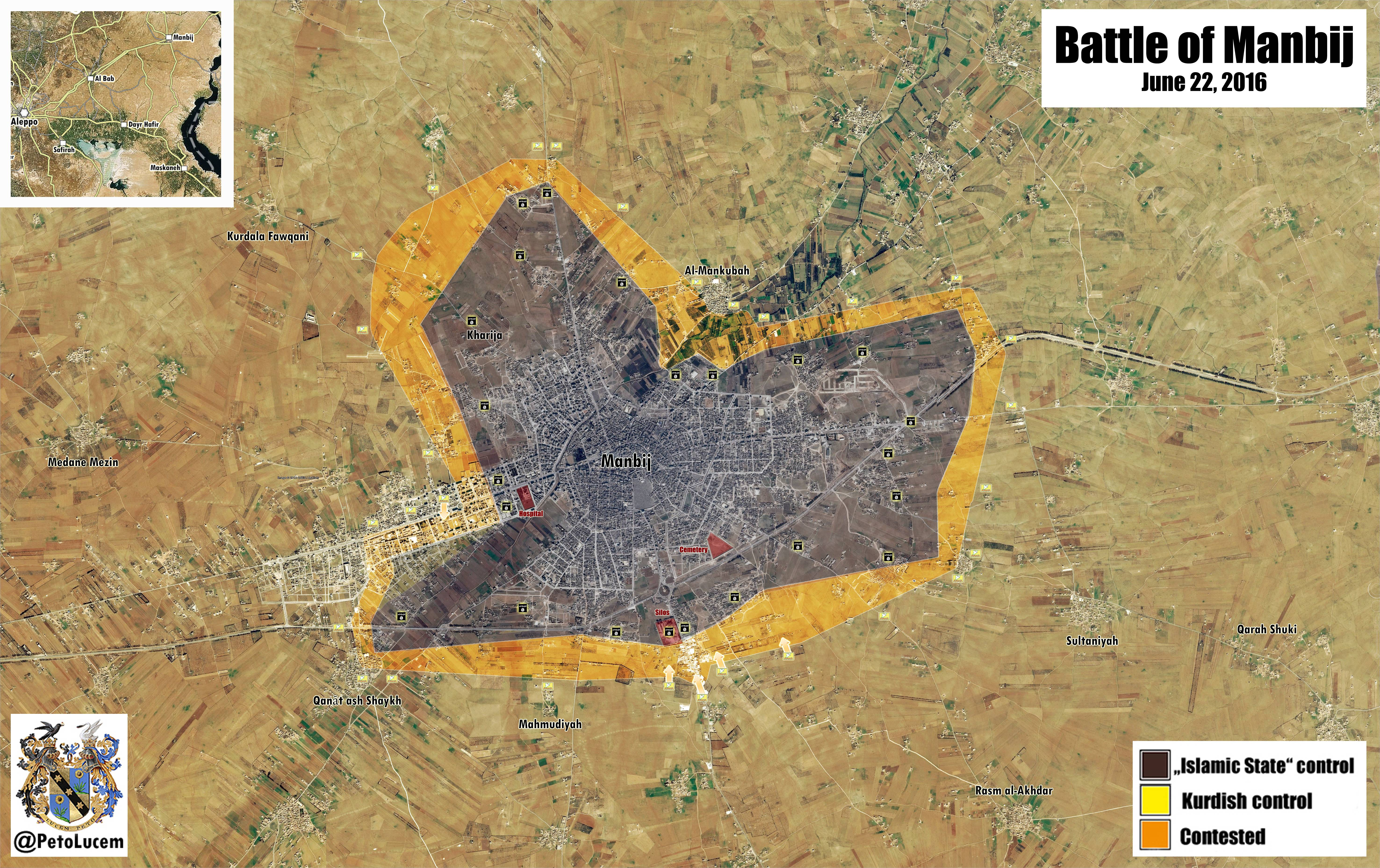 SDF Increases Efforts in Battle for Manbij - Photo, Video, Maps