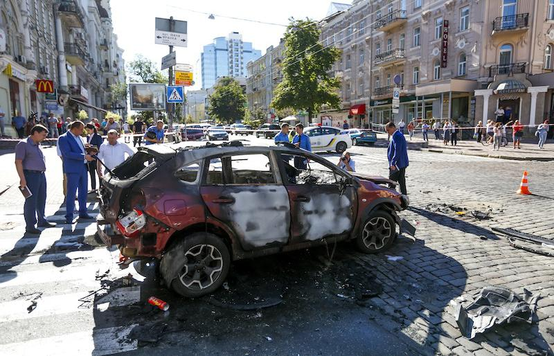 Famous Journalist Killed in Downtown in Kiev in Car Bomb Attack (Video)